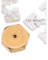 Off-White c/o Virgil Abloh スタッズピアス Multicolor