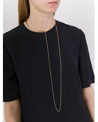Stella McCartney - Metallic Half Hoop Necklace - Lyst