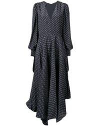 Vestido con monograma y lazo en los puños Stella McCartney de color Blue