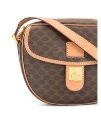 Céline Pre-Owned Brown Macadam Pattern Shoulder Bag