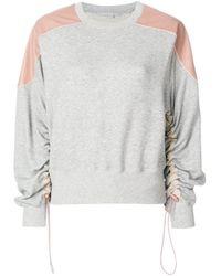 Stella McCartney Gray Ruched Sleeve Sweatshirt