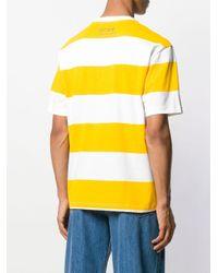 CALVIN KLEIN JEANS EST. 1978 Yellow Striped Logo T-shirt for men