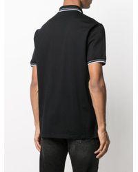 メンズ Emporio Armani ロゴトリム ポロシャツ Black