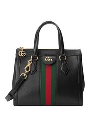 Gucci Black Handtasche mit Streifendetail