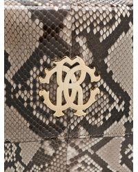 Roberto Cavalli   Brown Python Print Shoulder Bag   Lyst