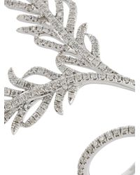 Elise Dray - Metallic Diamond Leaf Ring - Lyst