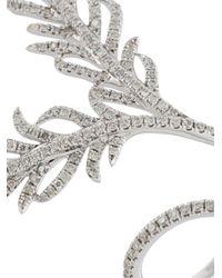 Elise Dray Metallic Diamond Leaf Ring