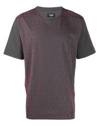 メンズ Fendi Ffロゴ Tシャツ Gray