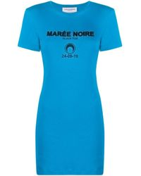 MARINE SERRE ロゴ ドレス Blue
