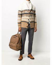Brunello Cucinelli Brown Shawl-collar Cardigan for men