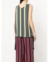 Astraet Green Striped Tie Hem Cami