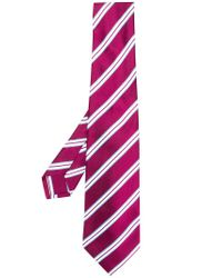 Kiton - Pink Classic Striped Tie for Men - Lyst