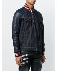 DSquared² Blue Denim Bomber Jacket for men