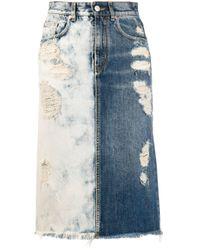Givenchy バイカラー デニムスカート Blue