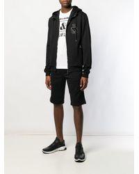 Sudadera con capucha y parche de corazón Dolce & Gabbana de hombre de color Black