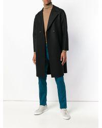 Harris Wharf London Double Breasted Coat Black