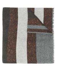 Brunello Cucinelli Gestreepte Sjaal in het Gray