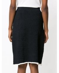 Egrey - Blue Textured Knit Skirt - Lyst