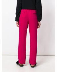 P.A.R.O.S.H. Pantery ストレートパンツ Pink