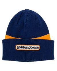 Golden Goose Deluxe Brand カラーブロックビーニー Blue