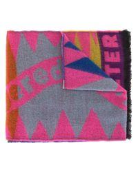Écharpe imprimée Walter Van Beirendonck en coloris Pink