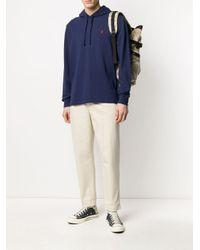 メンズ Polo Ralph Lauren ロゴ パーカー Blue