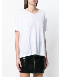 Majestic Filatures White Loose Fit T-shirt