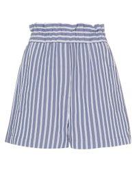 Shorts a vita alta di Tibi in Blue