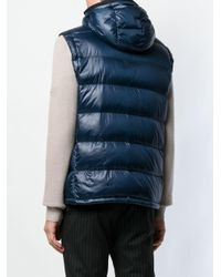 Peuterey - Blue Hooded Padded Gilet for Men - Lyst