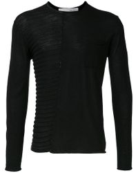 Isabel Benenato Black Knitted Sweater for men
