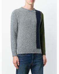 Howlin' By Morrison Gray Block Panel Sweater for men