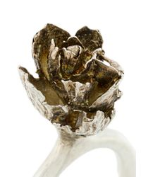 Rosa Maria - Metallic Dhalia Ring - Lyst