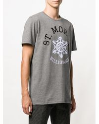 Billionaire - Gray Graphic Print T-shirt for Men - Lyst