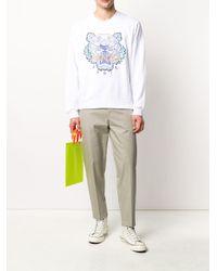 メンズ KENZO タイガー スウェットシャツ White