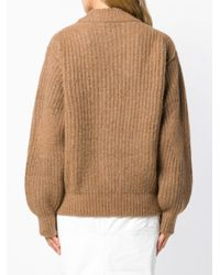 Victoria Beckham Brown Chunky Knit Sweater