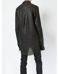 Cedric Jacquemyn - Black Leather Shirt for Men - Lyst