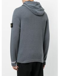 Stone Island | Gray Knitted Hoodie for Men | Lyst