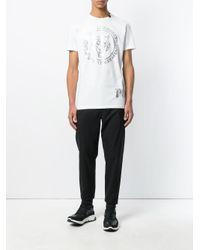 Philipp Plein White Branded T-shirt for men