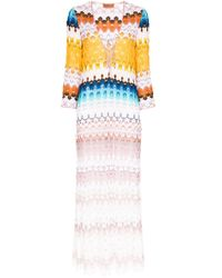 Missoni カフタン ドレス White