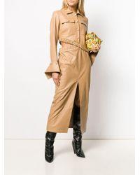 ROKH フレアカフス シャツドレス Natural
