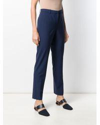 Pantalon fuselé à taille haute Theory en coloris Blue