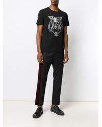 T-shirt Skull Chain di Just Cavalli in Black da Uomo