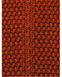Fashion Clinic Timeless Orange Woven Tie for men