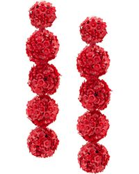 Sachin & Babi - Red Fleur Bouquet Earrings - Lyst