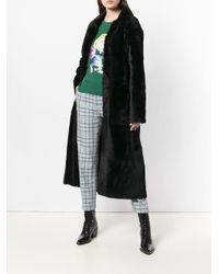 Inès & Maréchal Black Fur Robe Coat