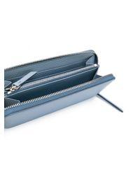 Portafoglio con zip di Maison Margiela in Blue