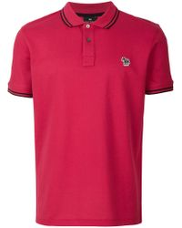 PS by Paul Smith - Red Zebra Logo Polo Shirt for Men - Lyst