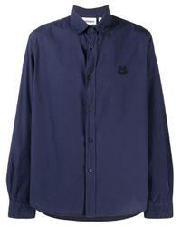 メンズ KENZO タイガーモチーフ シャツ Blue