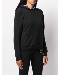 Karl Lagerfeld Black Kangaroo Pocket Hoodie