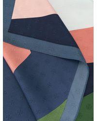 Tory Burch ロゴジャカード スカーフ Blue
